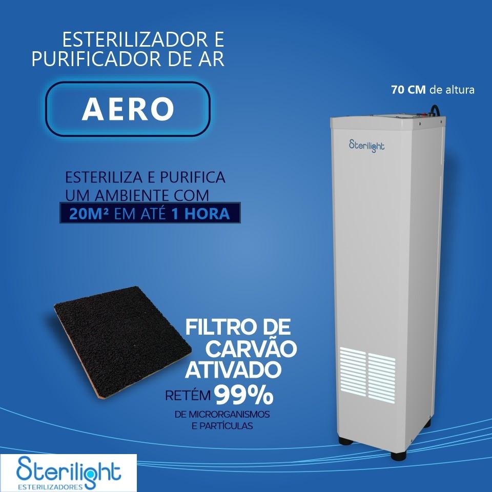 ESTERILIZADOR DE AR STERILIGHT AERO LUZ UV-C COM CONTROLE REMOTO
