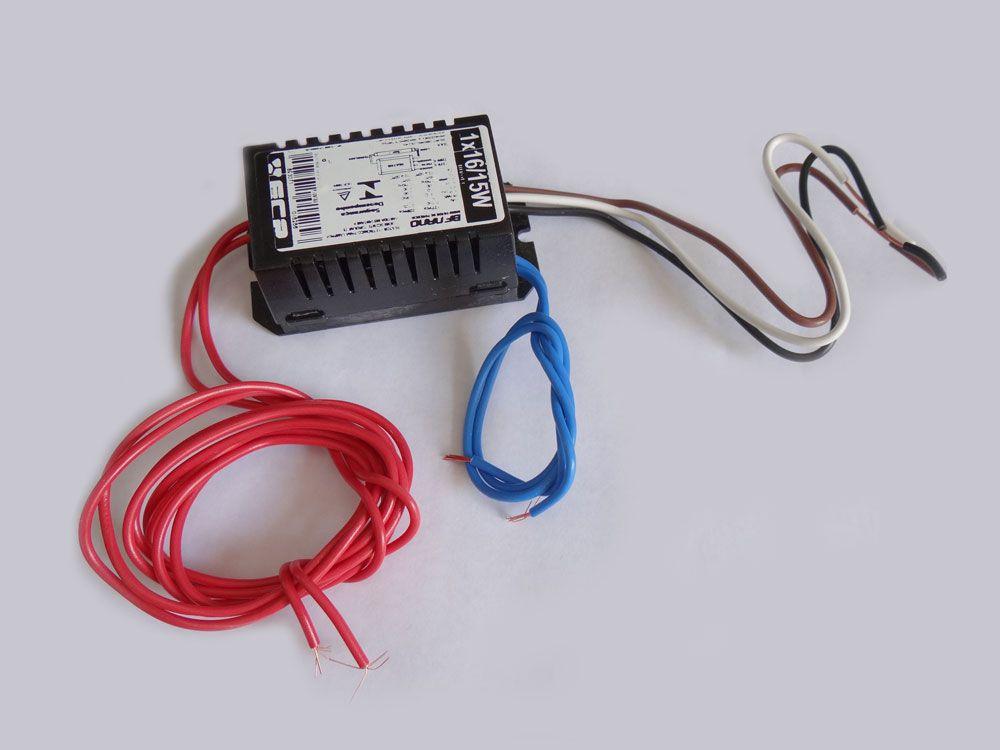 Reator 1 X 16/15W para lâmpadas UV-A