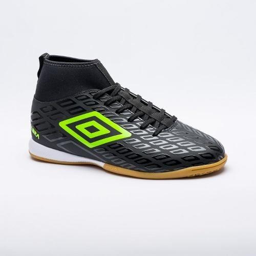 Chuteira Futsal Umbro Calibra Masculino - Preto/verde