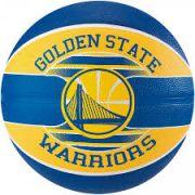 Bola Basquete Spalding NBA Warriors - Azul/Amarelo