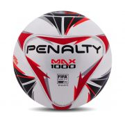 Bola Futsal Penalty Max 1000 X - Adulto - Branco e Laranja