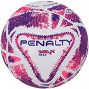 Bola Futsal Penalty Max 50 Termotec IX - Branco e Rosa
