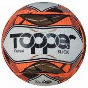 Bola de Futsal Topper  Slick II - Branco e Laranja