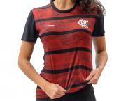 Camisa Babylook Braziline Flamengo Proud - Feminino - Preto