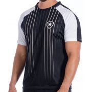 Camisa Botafogo Braziline Temp. Raglan Adulto - Preto/Branco