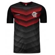 Camisa Braziline Flamengo Rap - Masculino - Preto e Vermelho