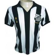 Camisa Braziline Santos Bimundial Masculina - Branco e Preto