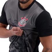 Camiseta do Corinthians St. Jorge - Masculino - Preto e Cinza