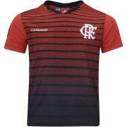 Camiseta Flamengo Braziline Striker Masculina - Vermelho/Preto