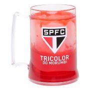 Caneca Gel São Paulo Escudo Tricolor - Vermelha