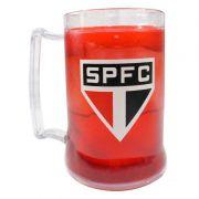 Caneca Gel São Paulo SPFC - Transparente /Vermelha