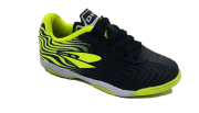 Chuteira Futsal Dray Topfly X2 Infantil 371 - Preto e Verde Limão
