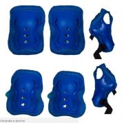 Kit De Proteção Sports Safety Infantil Azul