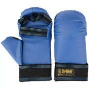 Luva de Karatê Oficial com Dedo - Shinai - Adulto-Azul
