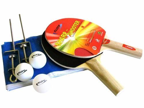 Kit Tênis de Mesa Completo Klopf Sharp Shooter - Raquete / Bolinha / Rede/Suporte