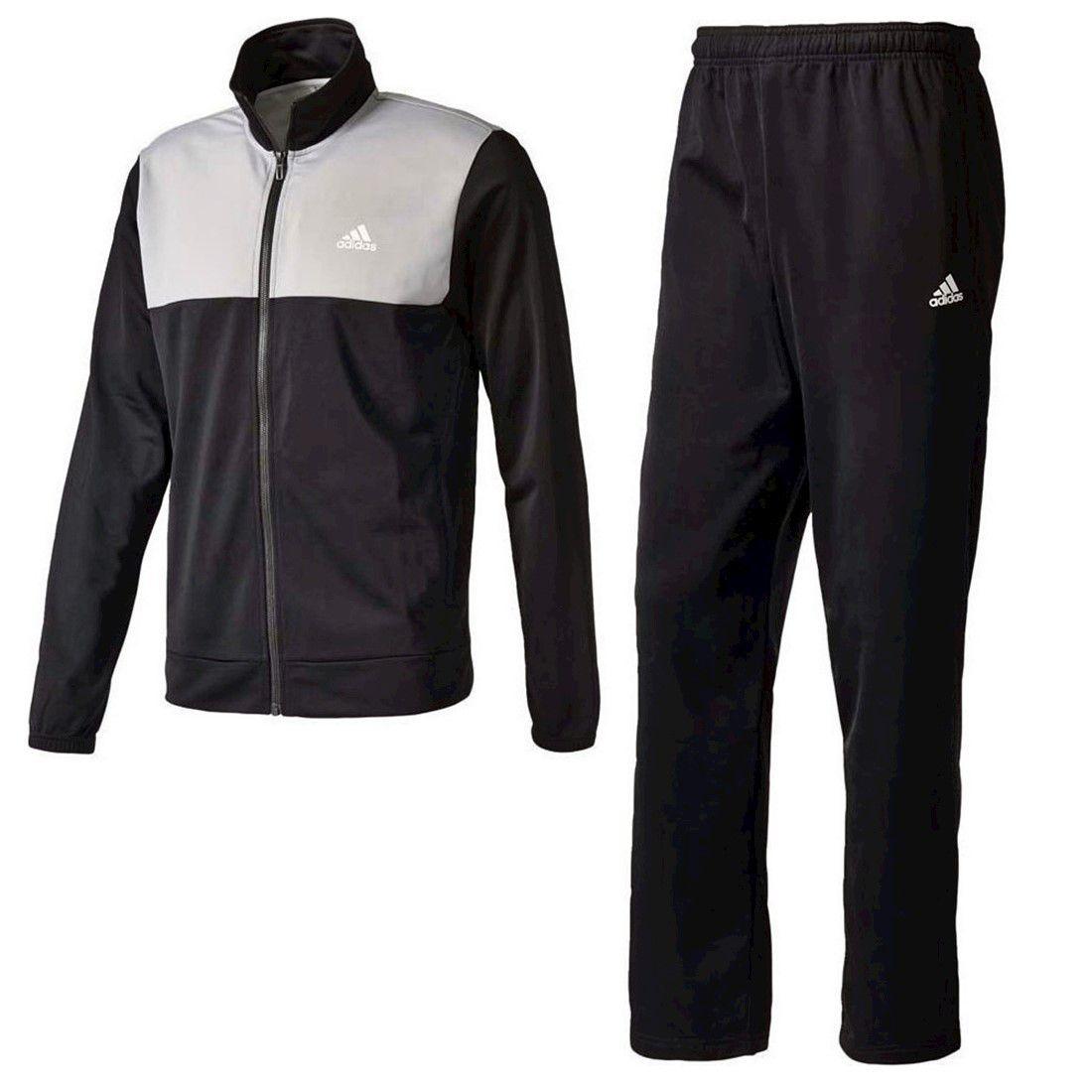 Agasalho Adidas Back2Basics Masculino - Preto e Cinza