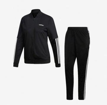 Agasalho Adidas Back 2 Basics 3 Stripes Feminino - Preto/Branco