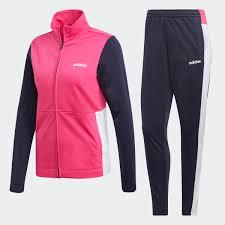 Agasalho Adidas Wts Plain Tric Feminino - Pink/Marinho/Branco