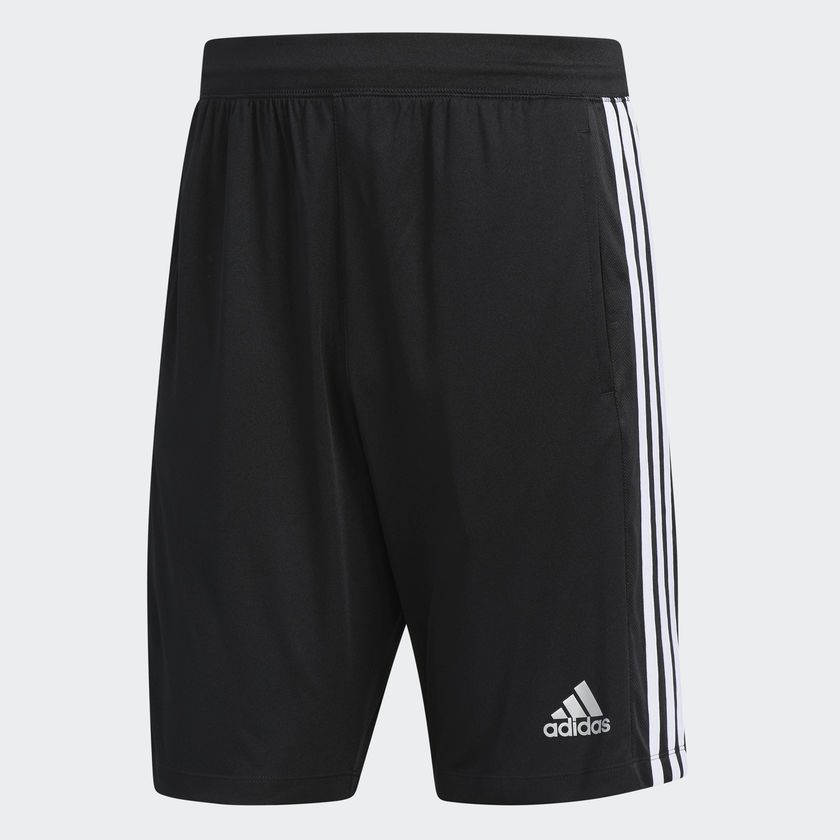 Bermuda Adidas D2M 3-Stripes Masculina - Preta