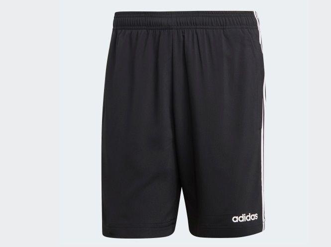 Bermuda Adidas Essentials 3 Stripes Chelsea - Masculino - Preto e Branco