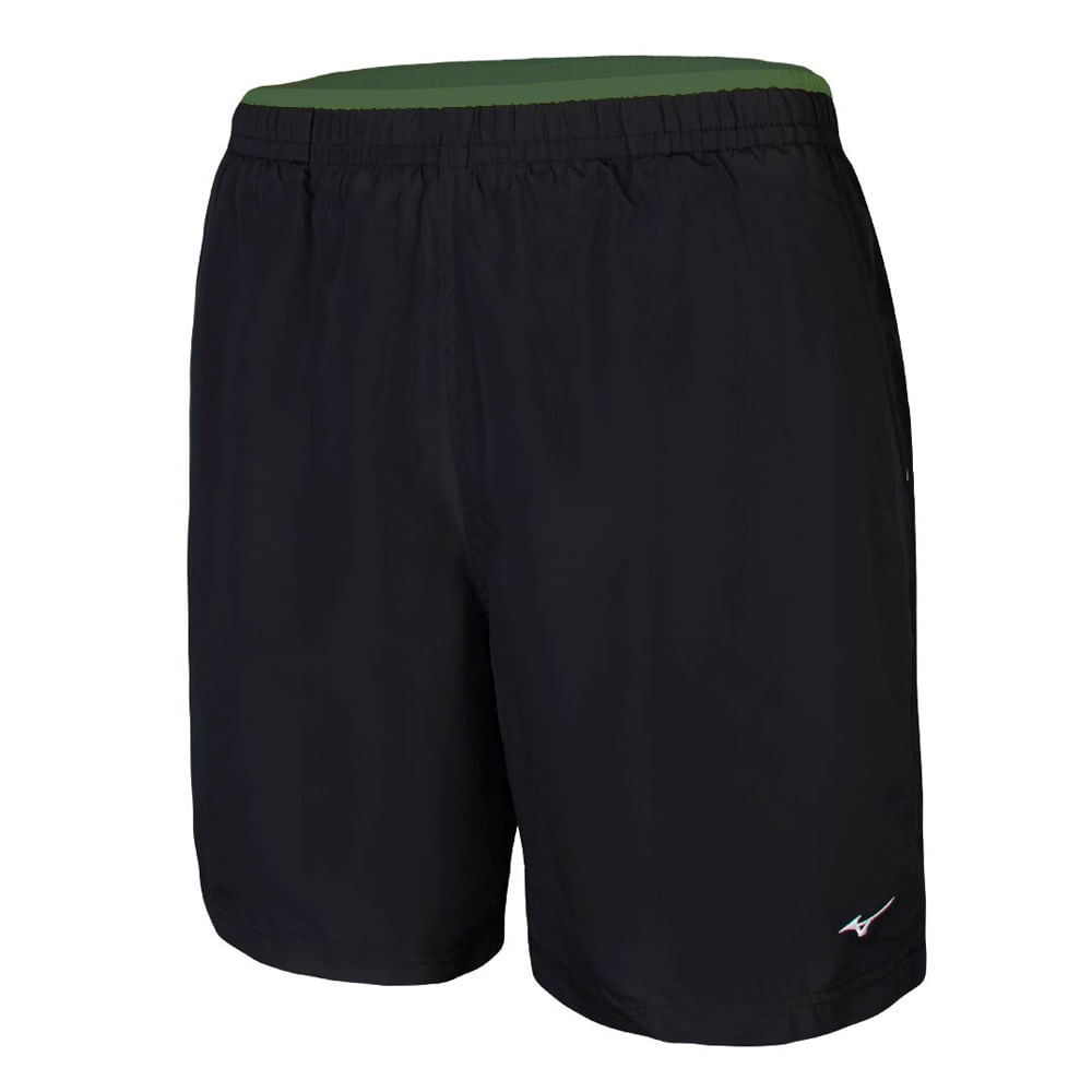 Bermuda Mizuno Tennis Master Masculina - Preto e Verde Escuro