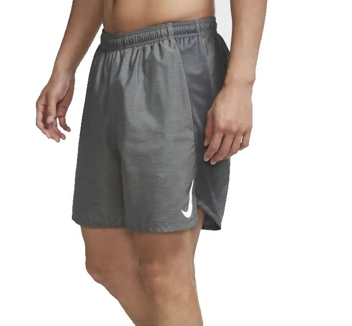 Bermuda Nike Challenger 7 Masculina - Cinza