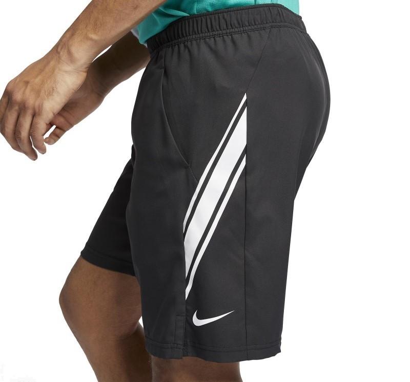 Bermuda Nike Court Dri-Fit 9 Masculina - Preta