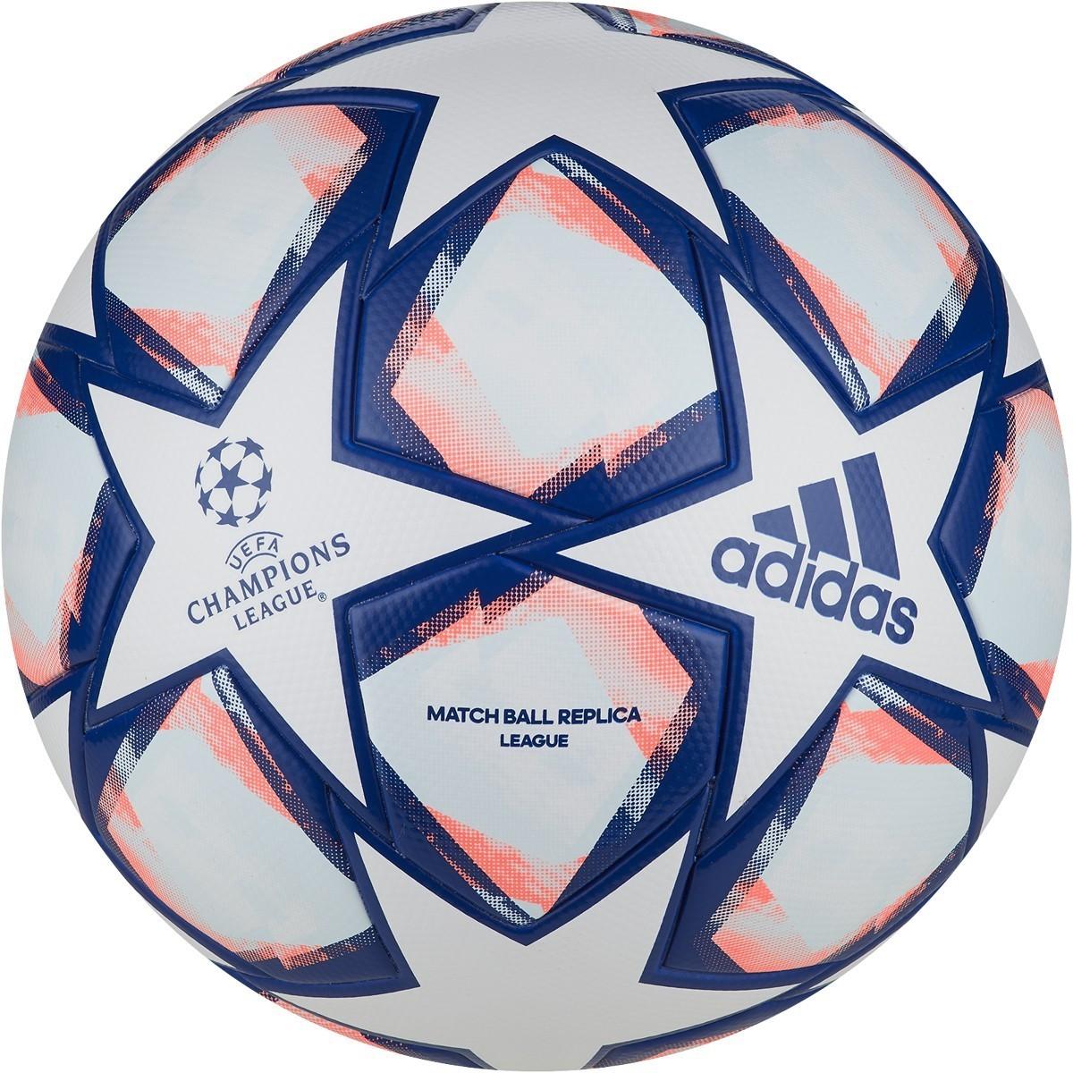 Bola Adidas UCL Finale 20 League - Branco e Azul
