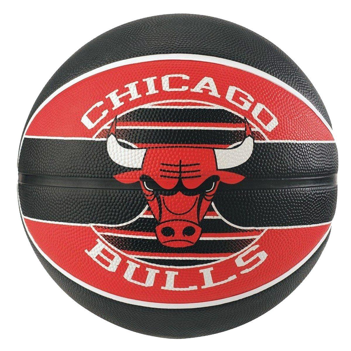 Bola Spalding  Basquete NBA Chicago Bulls - Pto/Vrm