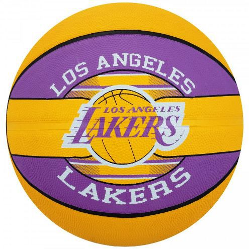 Bola Basquete Spalding NBA LA Lakers - Amarelo/Roxo