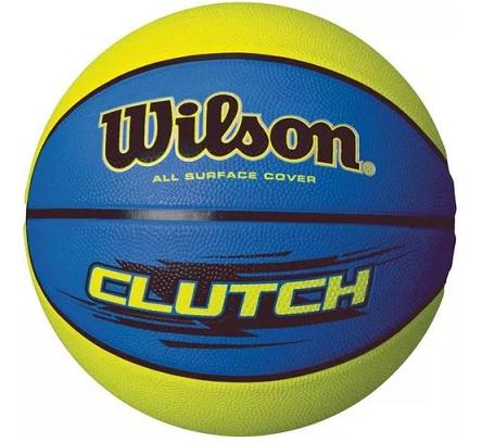 Bola Basquete Wilson Clucth - Azul/Amarelo