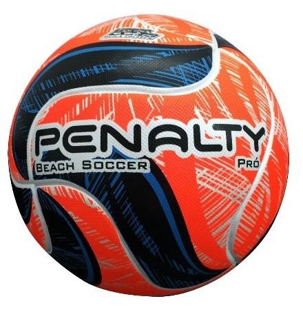 Bola Beach Soccer Penalty Pró IX - Branco e Laranja