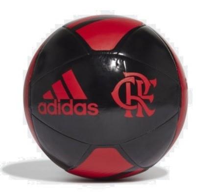 Bola Campo Adidas Flamengo CR - Preto e Vermelho