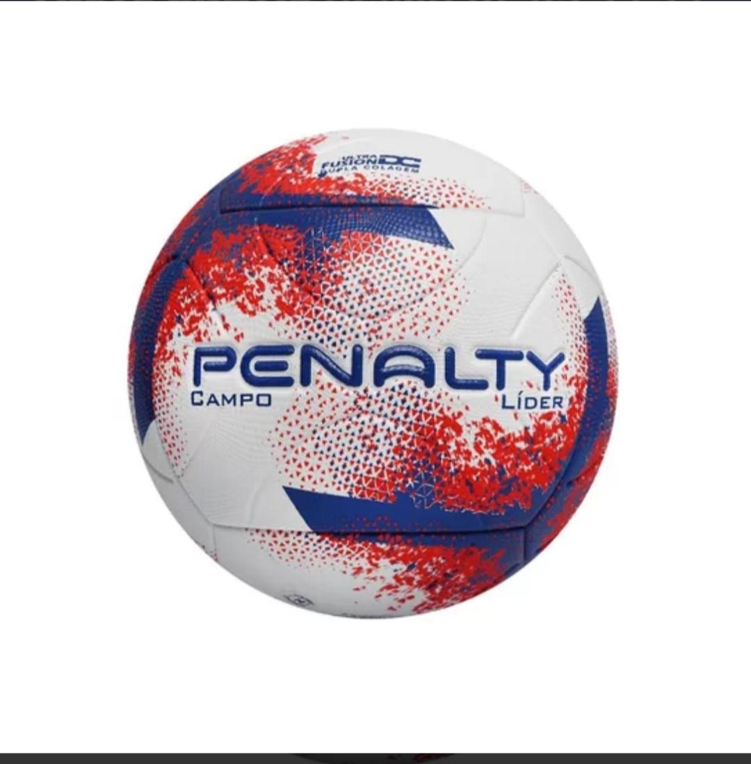 Bola Campo Penalty N4 Líder XXI - Branco/Vermelho/Royal