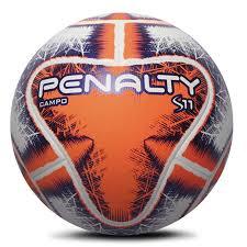 Bola Campo Penalty S11 R2 IX Oficial - Laranja/Roxo