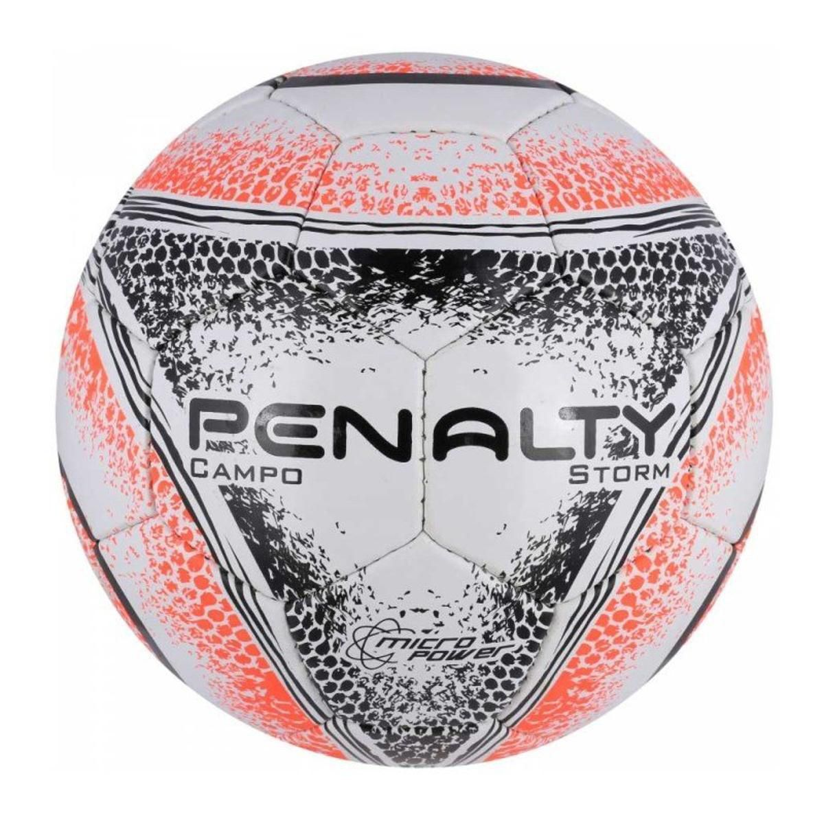 Bola Campo Penalty Storm N 4 - Branco/Laranja