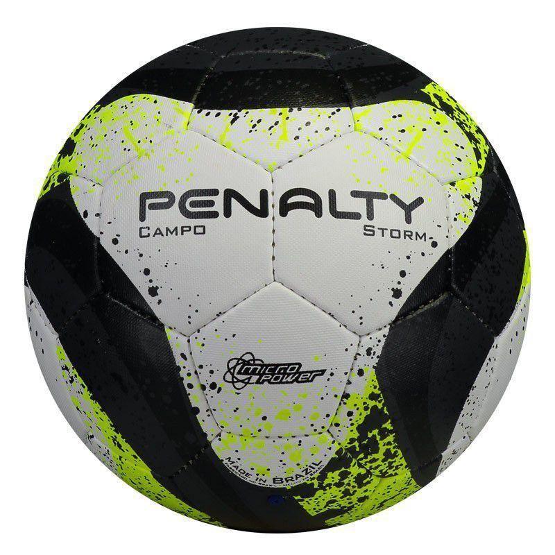 Bola Penalty Futebol Campo Storm - Branco e Preto