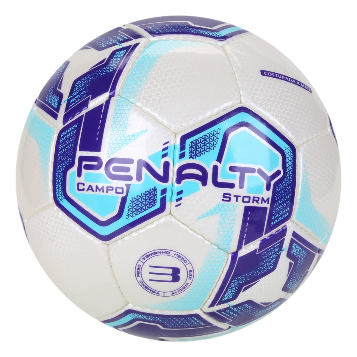 Bola Campo Penalty Storm N 3 XXI - Branco/Azul