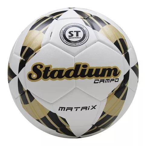 Bola Campo Stadium Matrix Branco/Dourado