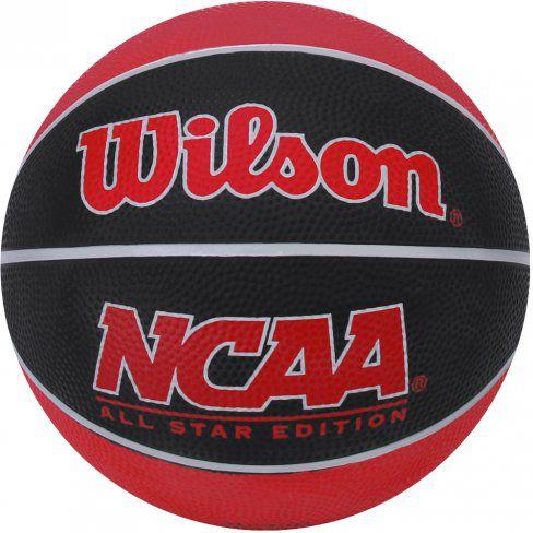 Bola Wilson Basquete Mini NCAA - Preto/Vermelho