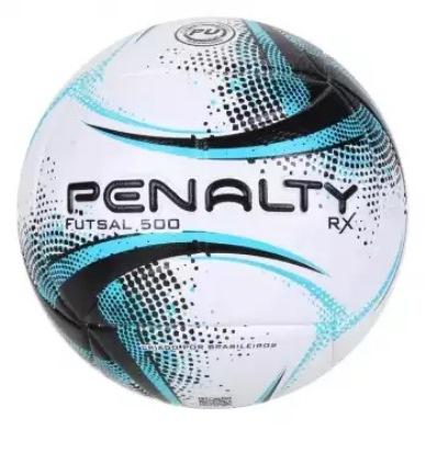 Bola de Futsal Penalty RX 500 XXI - Bco/Pto/ Az