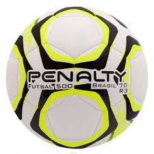 Bola de Futsal Penalty Brasil 70 R3 IX - Branco/Amarelo