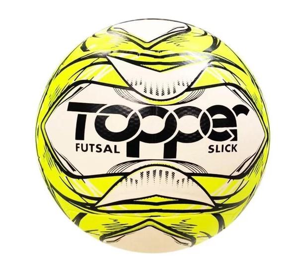 Bola de Futsal Topper Slick 2020 - Branco e Amarelo