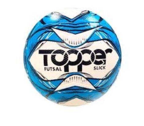 Bola de Futsal Topper Slick 2020 - Branco e Azul
