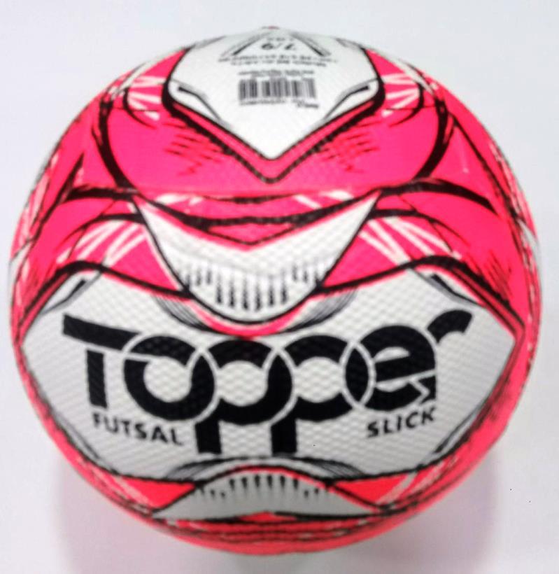 Bola de Futsal Topper Slick II - Branco e Rosa