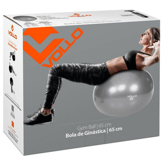 Bola De Ginástica Gym Ball 65 cm - Vollo