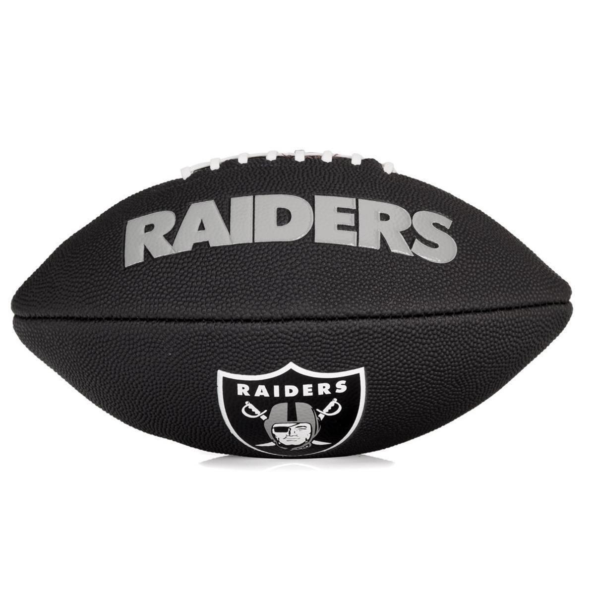 Bola Futebol Americano Wilson NFL Team Jr Oakland Raiders - Preta