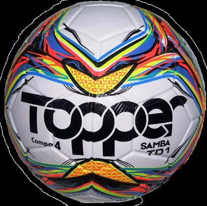 Bola Futebol Campo Topper Samba N 4 - Multicores