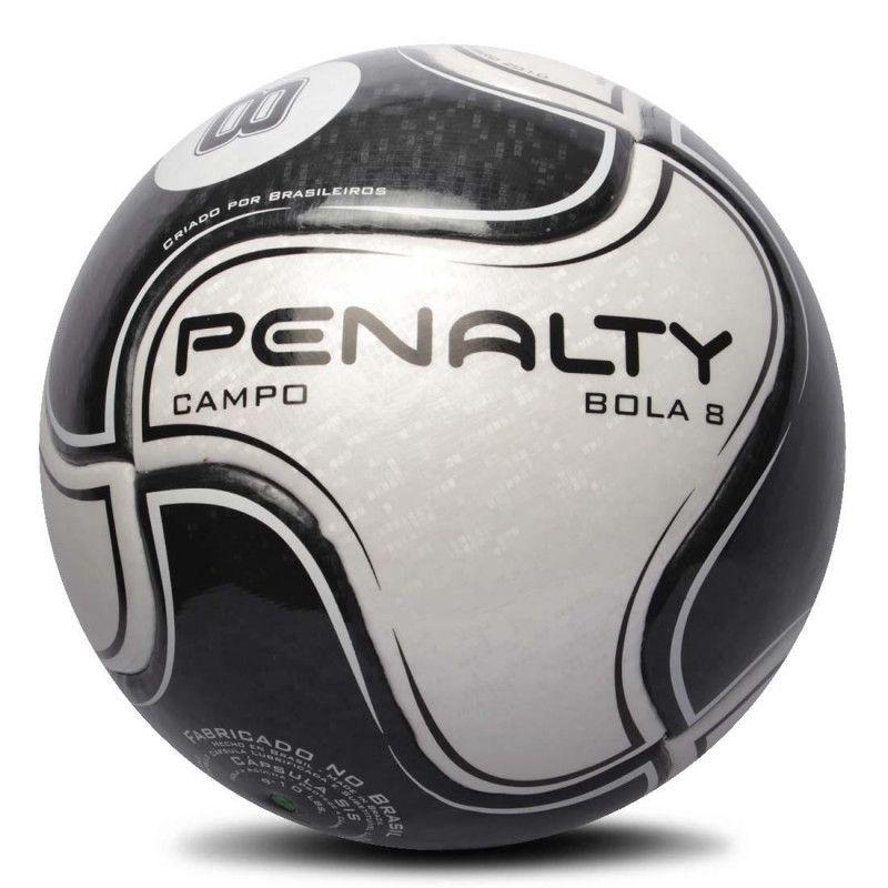 Bola Futebol de Campo Penalty 8 IX - Preto e Branco