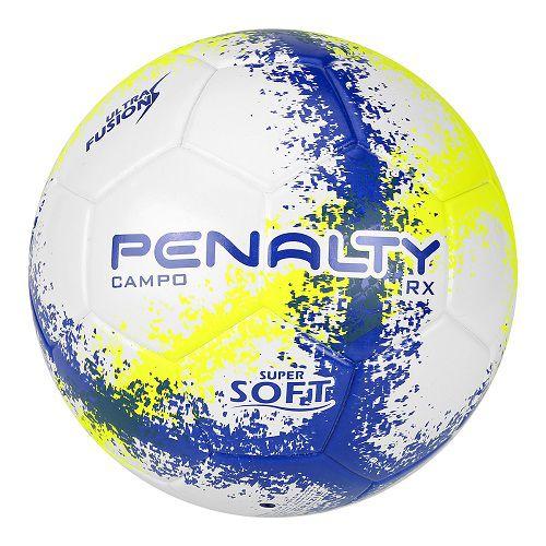 Bola Futebol Campo Penalty RX R3 N4 Fusion VIII - Branco e Amarelo